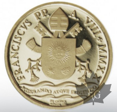 VATICAN-2020-10 Euro or-BATTESIMO-PROOF