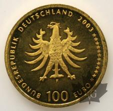 ALLEMAGNE-2003-100 EURO-PROOF