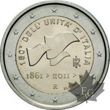 ITALIE-2011-2 EURO COMMEMORATIVE
