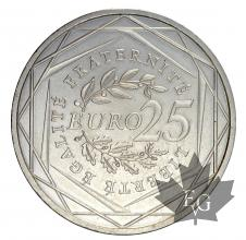 FRANCE-2009-25 EURO-ARGENT-FDC