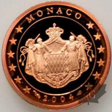 MONACO-2004-2 CENTIMES EURO-PROOF-BE