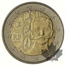 FRANCE-2013-2 EURO-PIERRE COUBERTIN