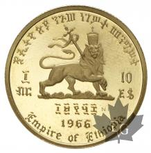 Ethiopie-10 dollars or - gold