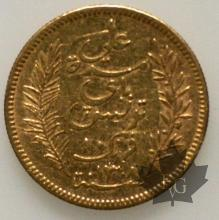 Tunisie - 10 Francs or gold- 1891
