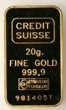Suisse - lingot or - or ingot - 20 g-mixed type