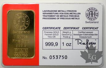 Suisse - lingot 1 once or - 1 oz gold ingot-different types