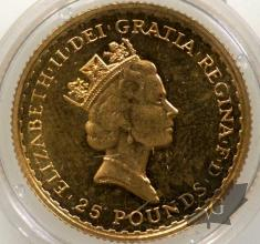 Royaume Uni - 1/4 Oz gold- 1/4 once or