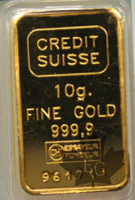 Suisse - gold ingot - 10 grams- mixed types