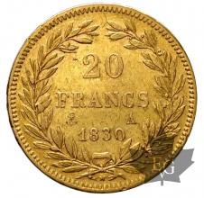 France - 20 francs or gold Louis Philippe - TETE NUE