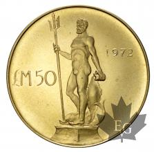 Malte-50 Pounds 1972-or- gold