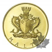 Malte-50 Pounds 1974-or-gold