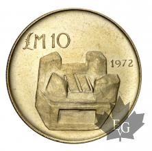 Malte-10 Pounds 1972- or-gold