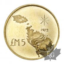 Malte-5 Pounds 1972-or-gold