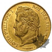 France - 20 francs or gold Louis Philippe - TETE LAUREE