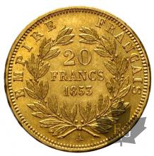 France - 20 francs or Napoleon III - dates mixtes