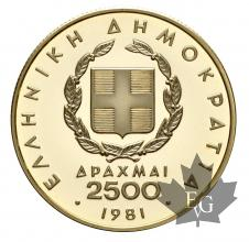 Grèce-2500 Drachmes-or-type differents