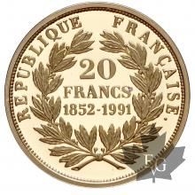 France-1991-20 Francs or- proof