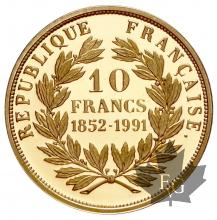 France-1991-10 Francs or- proof