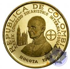 Colombie-100 Pesos gold-Proof