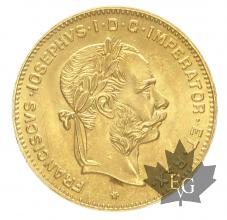 Autriche - 4 Fiorini or gold 1892