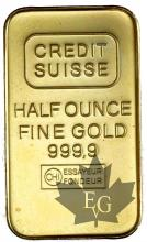 Suisse - 1/2 once or - 1/2 oz gold ingot