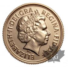 Royaume Uni - souverain or - sovereign gold - sterlina - 2014