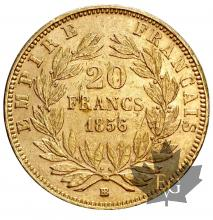 France-1856BB-20 Francs or-Strasbourg