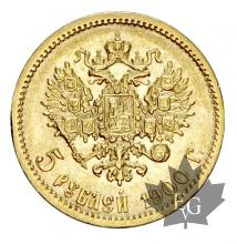 Russie - 5 Roubles / five roubles or gold