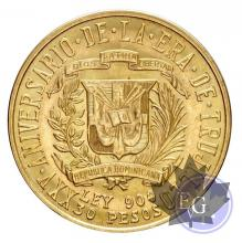 République dominicaine -  30 pesos Trvjillo or gold