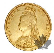 Royaume Uni-1/2souverain souvereign sterlina-Victoria Crown
