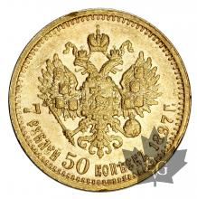 Russie-7.5 Roubles-or-gold