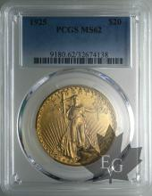 USA-20 dollars-Saint Gaudens-PCGS MS62