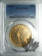 USA-20 DOLLARS LIBERTY HEAD-PCGS MS62