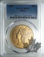 U.S.A.-20 dollars-Liberty Head- MS61
