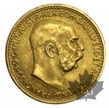 Autriche-10 Couronnes-1912-refrappe