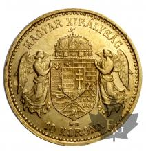 Hongrie-10 Couronnes-or-gold-1892-1912
