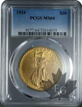 USA-20 dollars-Saint Gaudens-PCGS MS64