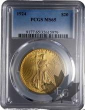 USA-20 dollars-Saint Gaudens-PCGS MS65