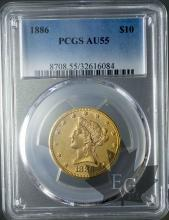 USA-10 DOLLARS LIBERTY HEAD-FDC-PCGS AU55