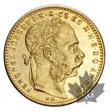 Hongrie-20 Frs - 8 Fl-or-gold