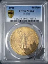 Mexique - 50 Pesos gold or - dates mixtes-PCGS MS64