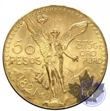 Mexique - 50 Pesos gold or - dates mixtes