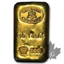 Suisse - 10 Tolas or - 10 Tolas gold ingot