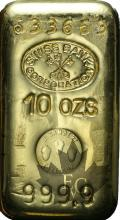 Suisse - 10 onces or - 10 ounces gold ingot