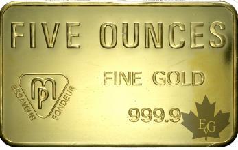 Suisse - 5 onces or - 5 ounces gold ingot