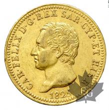 Italie-40 Lire-Carlo Felice-different years