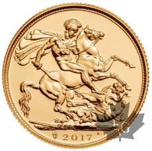 Royaume Uni - souverain or - sovereign gold - sterlina - 2017