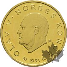 Norvege-1991-1500 Kroner proof-colpo sul bordo