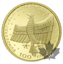 Allemagne-100 euro gold-or-different years-28mm-PROOF-1/2 OZ