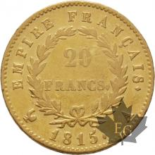 France-20-Francs-Napoleon-Ier-1815A-Cent-Jours